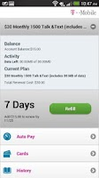 Screenshot of T-Mobile Refill