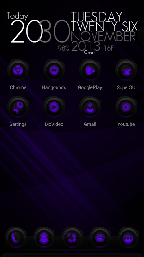 RubberPurple NextLauncher Skin- screenshot