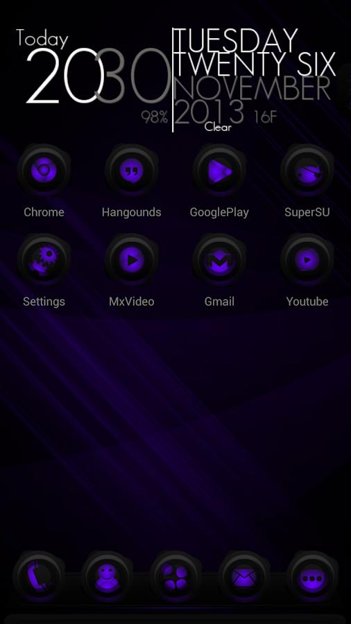 Next Theme RubberPurple- screenshot
