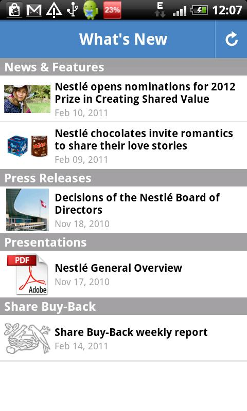 Nestlé - screenshot