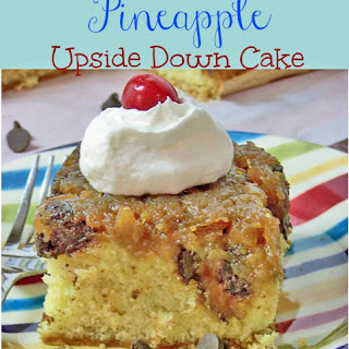 Chocolate Chip Pineapple Upside Down Cake