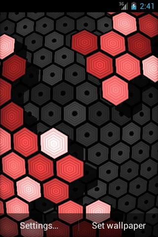 HexGrid Live Wallpaper