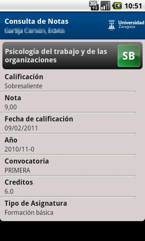 Consulta de Notas- screenshot