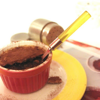 Mini Chocolate Custard with Cocoa Bean Crumble.