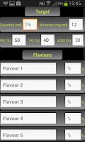 Screenshot of E-Liquid Calculator