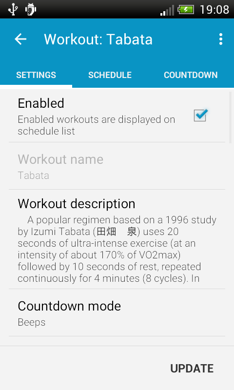 HIIT - interval training timer - screenshot