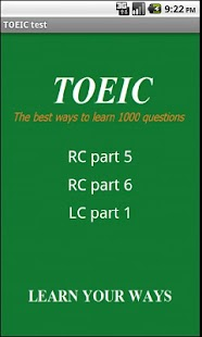 1000 TOEIC test; LC and RC- screenshot thumbnail