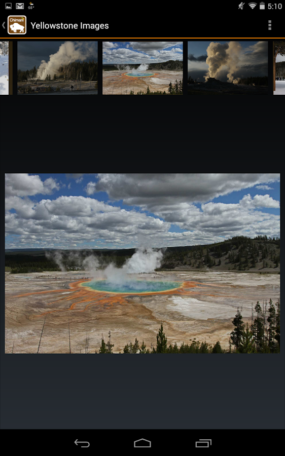 Chimani Yellowstone NP - screenshot