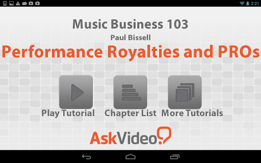 Music Business 103