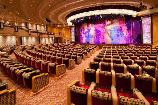 Grandeur-of-the-Seas-Palladium - The Palladium, Grandeur of the Seas' main theater, features nightly entertainment, including contemporary musical stage productions.