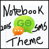 Notebook Paper Go SMS Theme