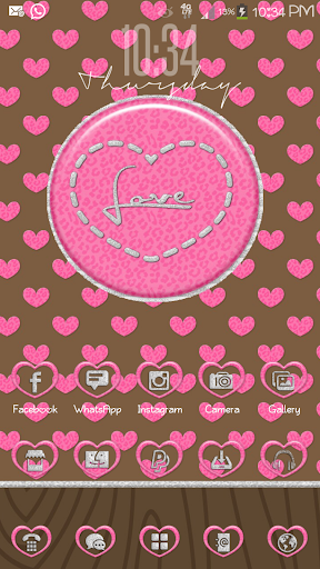 Leopard Love Go Launcher Theme