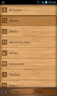 PowerAmp wood skin - screenshot thumbnail