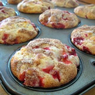 Fresh Strawberry Muffins.
