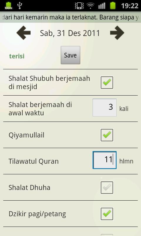 Evaluasi Ibadah- screenshot