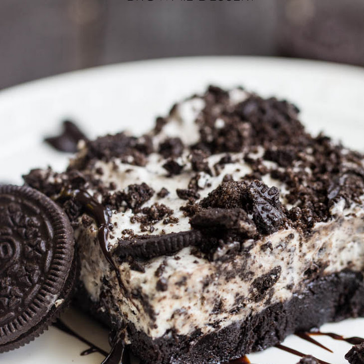 Frozen Cookies and Cream Brownie Dessert Recipe