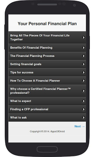 Your Personal Financial Plan