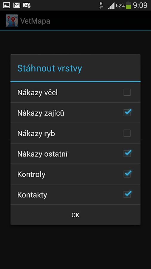 Veterinární mapa - screenshot