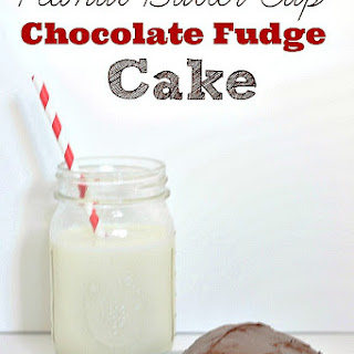 Peanut Butter Cup Fudge Cake