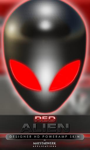 poweramp 피부 외계인 레드