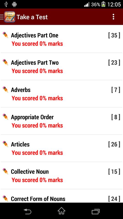 English Grammar Practice - screenshot