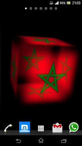3D Morocco Cube Flag LWP