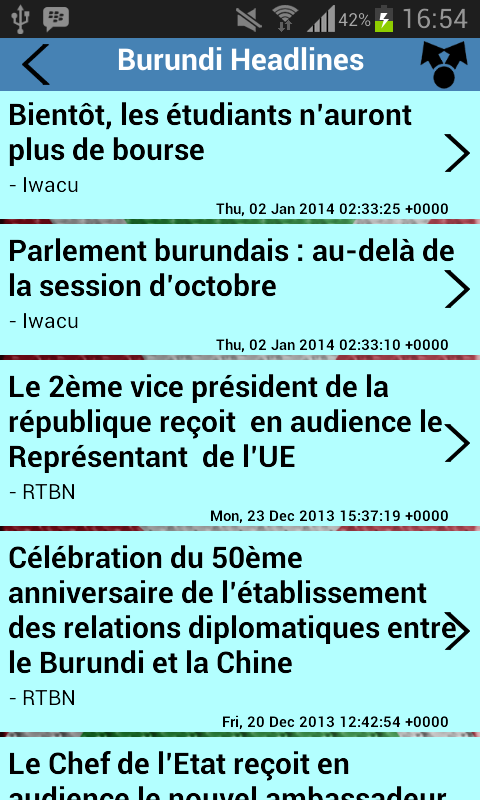 Burundi Newspapers - screenshot