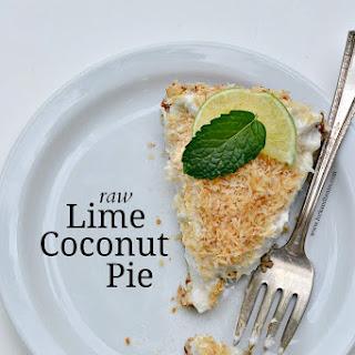 Raw Lime Coconut Pie.