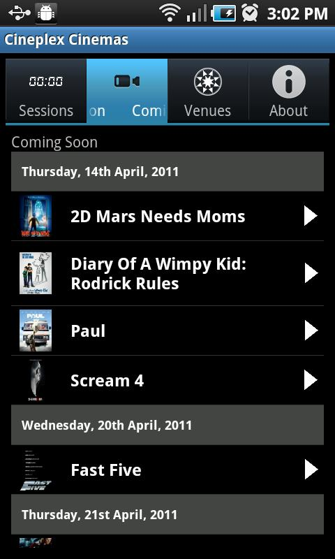 Cineplex Cinemas- screenshot
