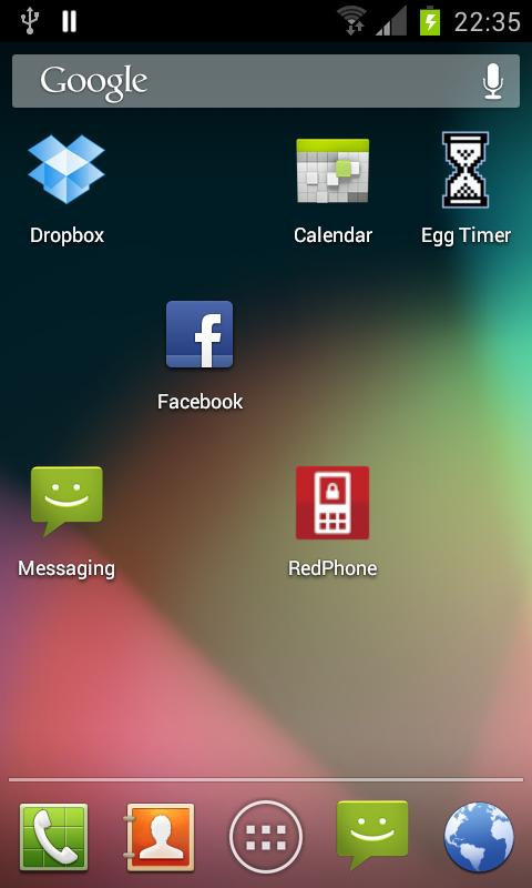 Stock Launcher - Android 4.1- screenshot