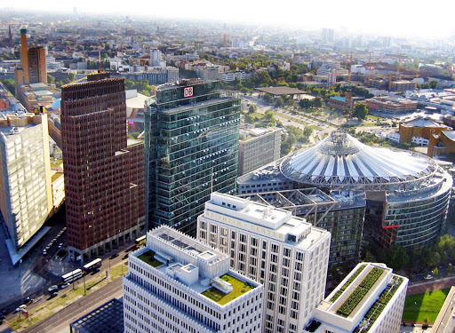 downtown-Berlin-aerial - An aerial view of Berlin's downtown.