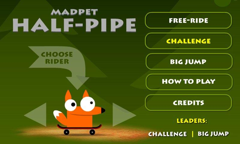 Madpet Half-pipe Skateboarding- screenshot