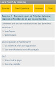 Screenshot of Learn French by listening