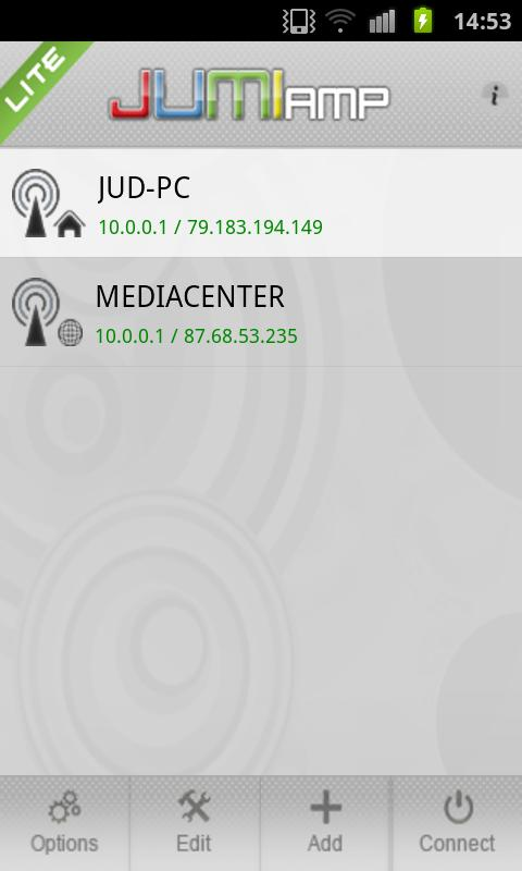 JumiAmp Lite - screenshot