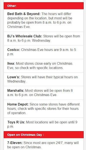 【免費購物App】Stores Open on Christmas-APP點子