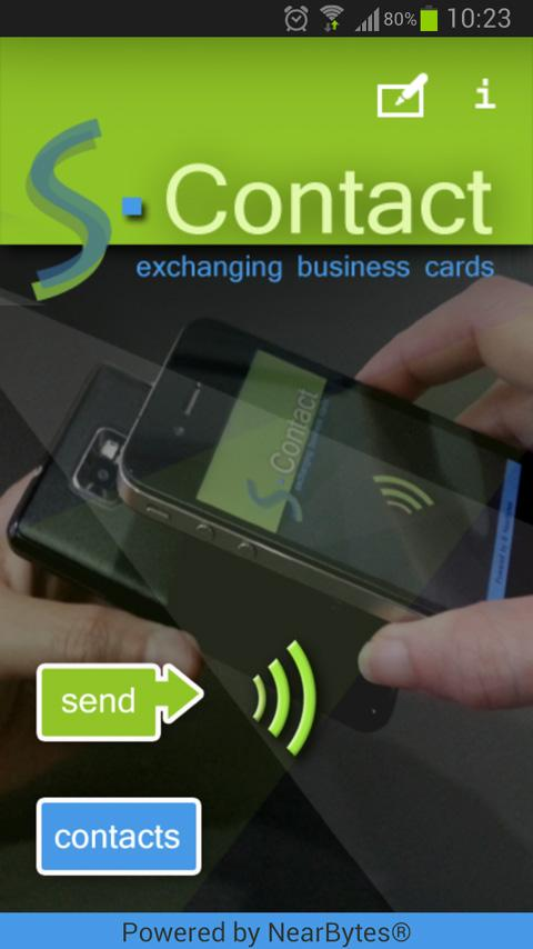 S-Contact: captura de tela