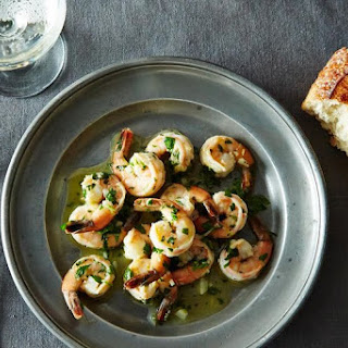 Sautéed Shrimp with Lemon, Garlic, and Parsley.