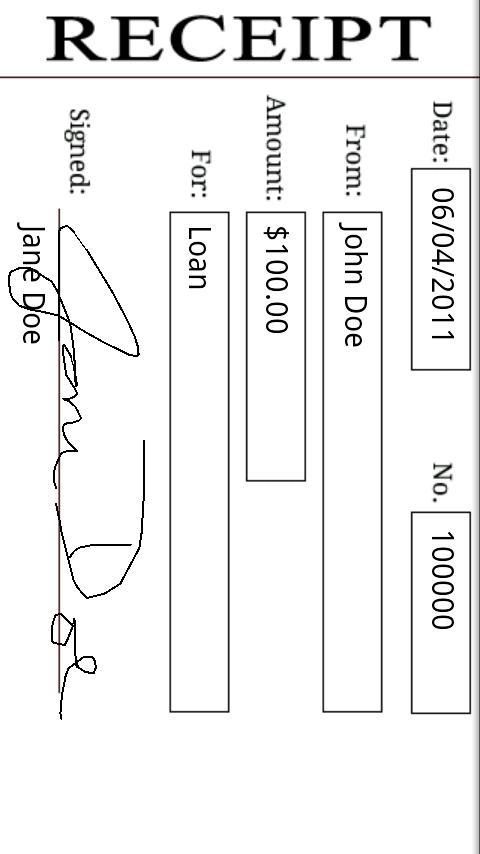 ReceiptBook- screenshot