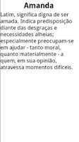 Screenshot of Significado dos Nomes