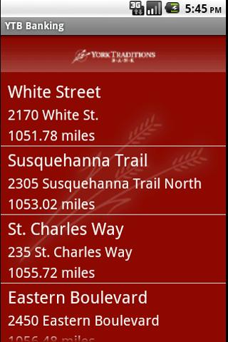 York Traditions Mobile Banking - screenshot