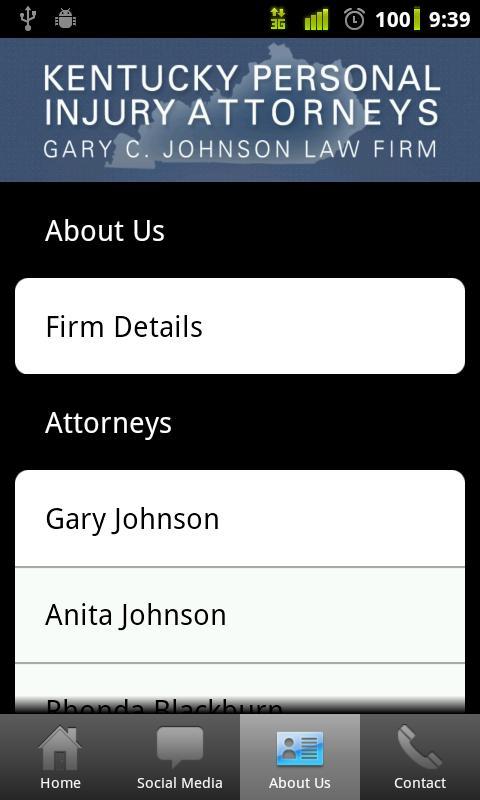 Kentucky PI Attorneys- screenshot