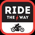 Ride the Way; motorbike routes icon