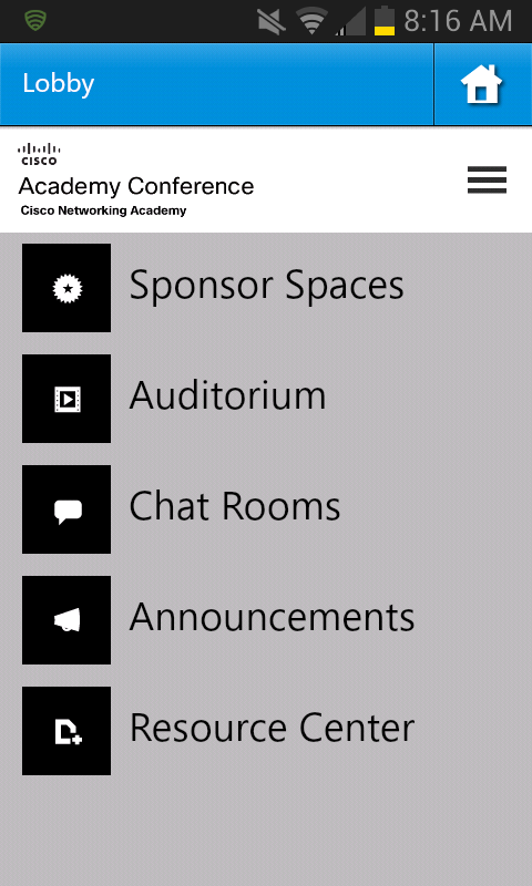 Cisco Academy Conference - screenshot