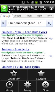 Lyric Search- screenshot thumbnail