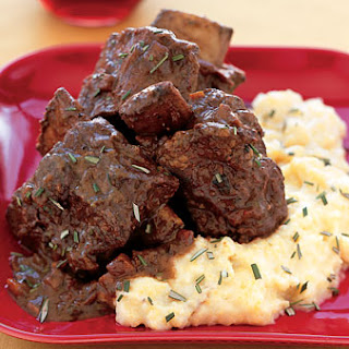Braised Short Ribs with Chocolate and Rosemary.