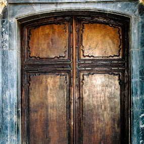 Knock Knock by RaeLynn Petrovich - Buildings & Architecture Other Exteriors ( solid, wood, exterior, exterior door, door, architectural detail, architecture )