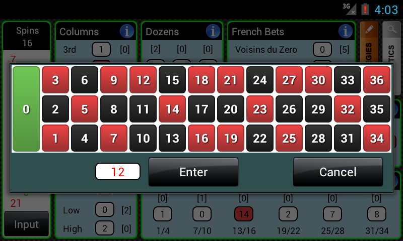 Smart Roulette Tracker - screenshot