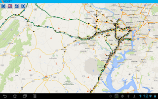Screenshot of VDOT 511 Virginia Traffic