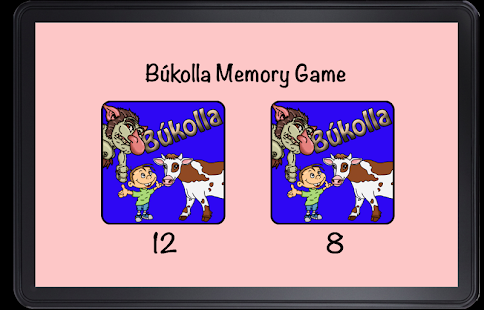 Bukolla Memory Game - náhled
