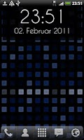 Screenshot of Grid Clock Live Wallpaper